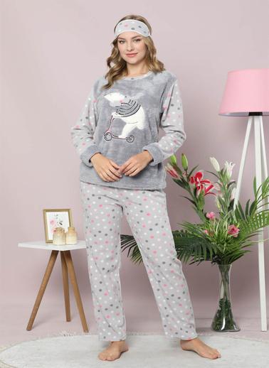 Akbeniz Pijama Takım Antrasit